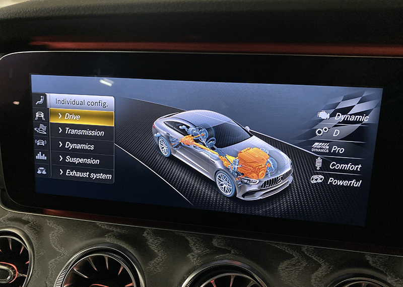 You can customise nearly every driving aspect of the car.