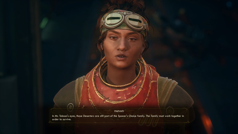 Parvati is the best. There's no shortage of great voice acting in this game, with actors like Ashly Burch (Chloe from Life is Strange, Aloy from Horizon Zero Dawn) voicing Parvati.