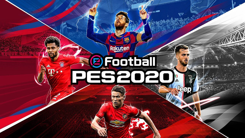 eFootball PES 2020 is a sports game with a dumb name published by Konami.