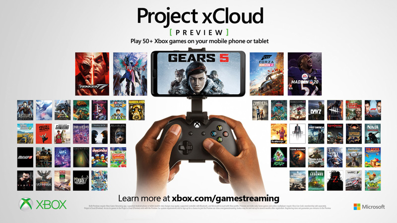 Microsoft is entering the fray with Project xCloud. (Image source: Microsoft)