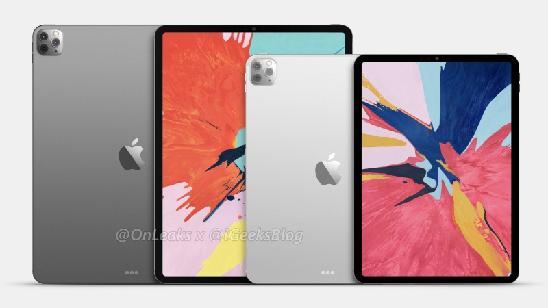 The purported renders of the 2020 iPad Pro lineup.