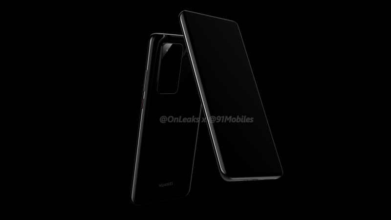 Purported render of the Huawei P40 Pro.
