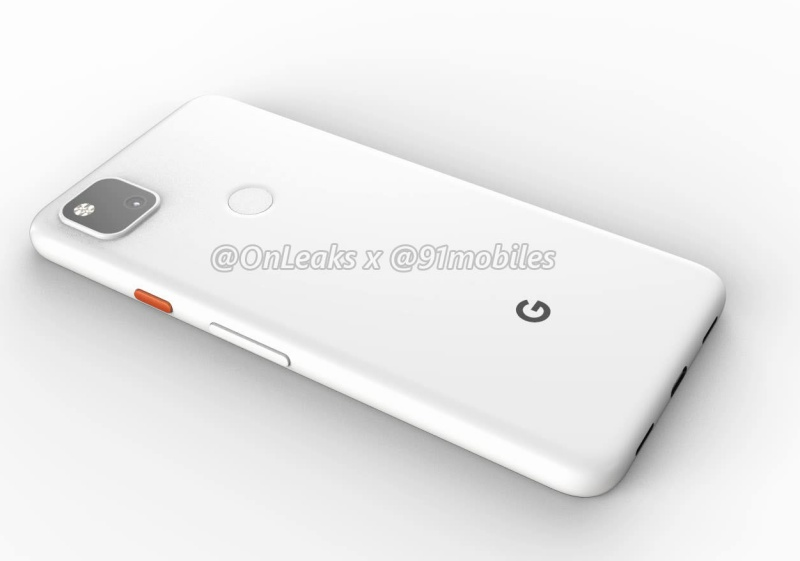 Purported render of the back of the Google Pixel 4a.