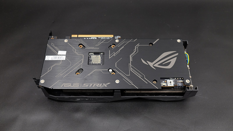 A look at the card's backplate.