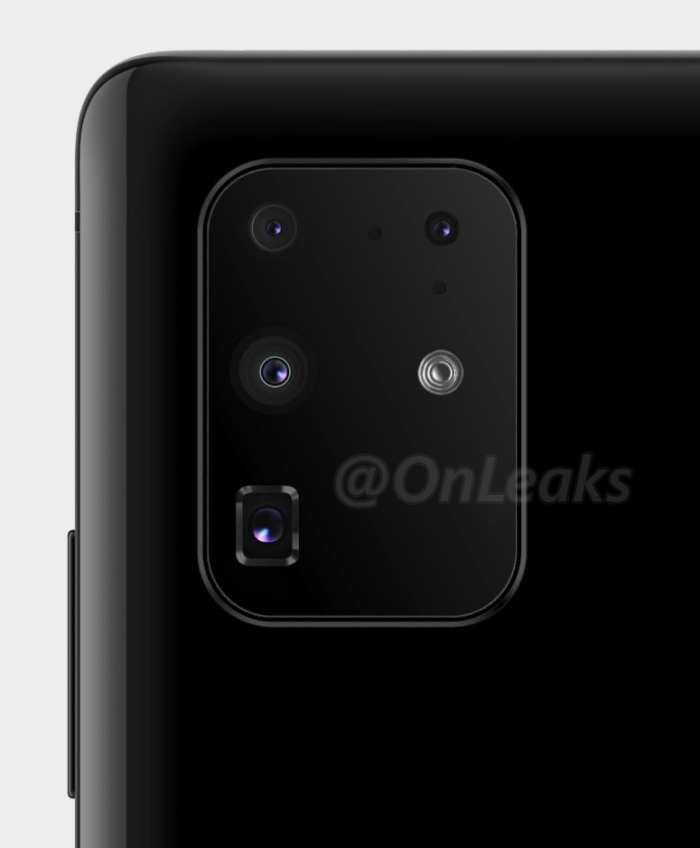 The new render shows the final configuration of the rear camera module on the upcoming Samsung Galaxy S11+.