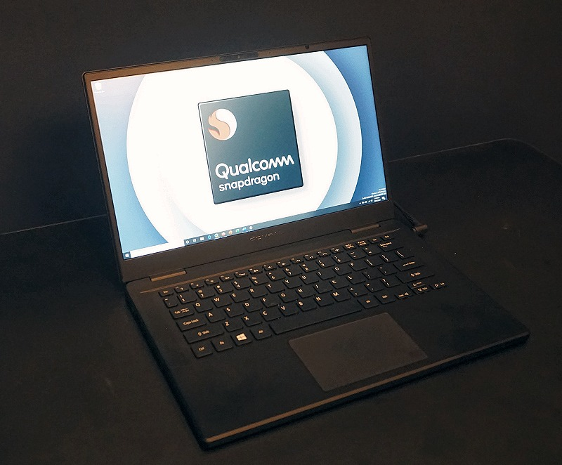 A reference notebook based on the Snapdragon 7c Compute Platform and supplied by Compal.