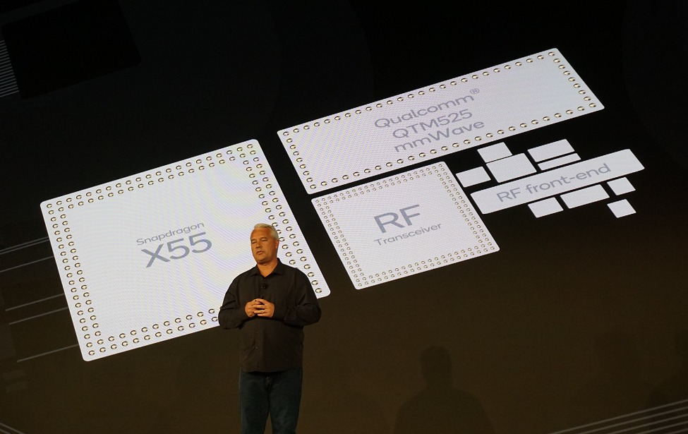 Instead, it relies on a separate Snapdragon X55 5G modem-RF system.