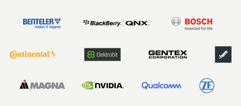 These are the partners that helped create the Vision-S.