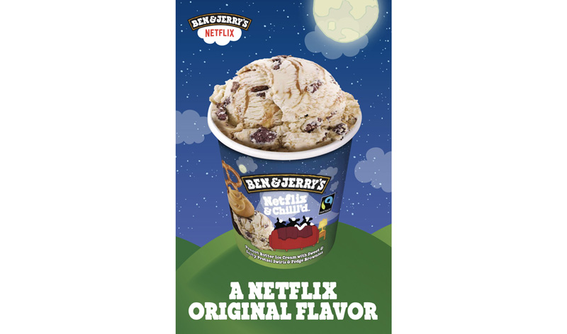 The official poster for Netflix & Chilll'd | Image: Ben & Jerry's