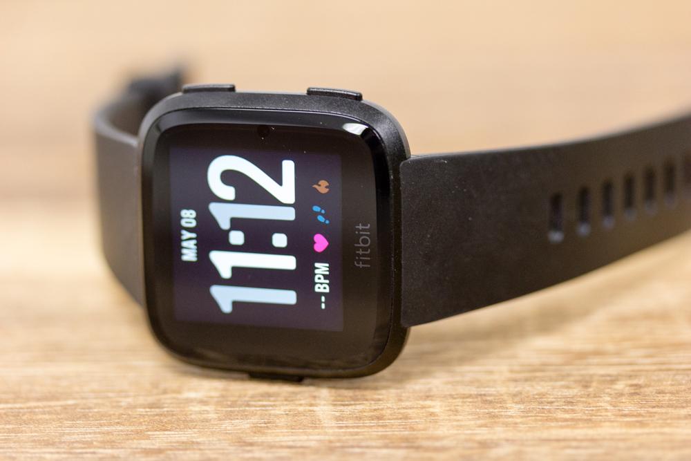 The Fitbit Versa smartwatch.