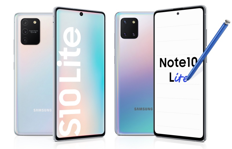 Samsung launched the Galaxy S10 Lite and Note 10 Lite in Jan 2020. (Image: Samsung.)