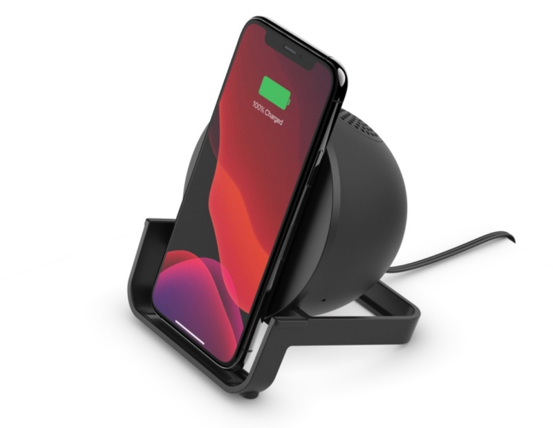 The Belkin Boost Charge Wireless Charging Stand + Speaker.
