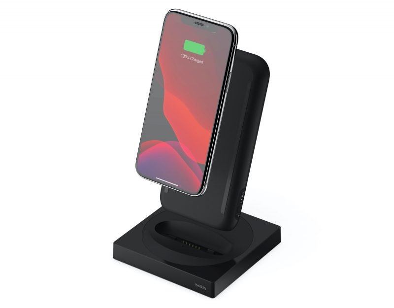 The Belkin Boost Charge Portable Wireless Charger + Stand 10W Special Edition.