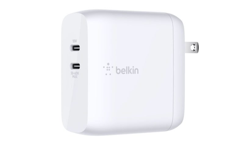 The Belkin Boost Charge USB-C GaN 68W Wall Charger.