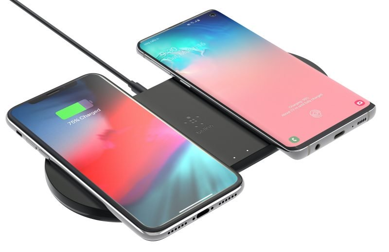 The Belkin Boost Charge Dual Wireless Charging Pads 10W.