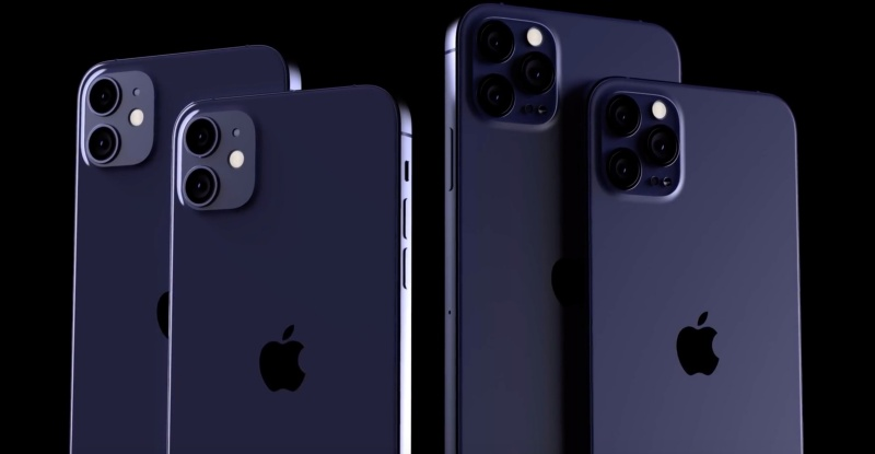 Concept render of the Apple iPhone 12 in navy blue finish. <br> Image source: EverythingApplePro/Max Weinbach