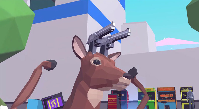 Deeeer Simulator is a perfectly normal game about a gun ...