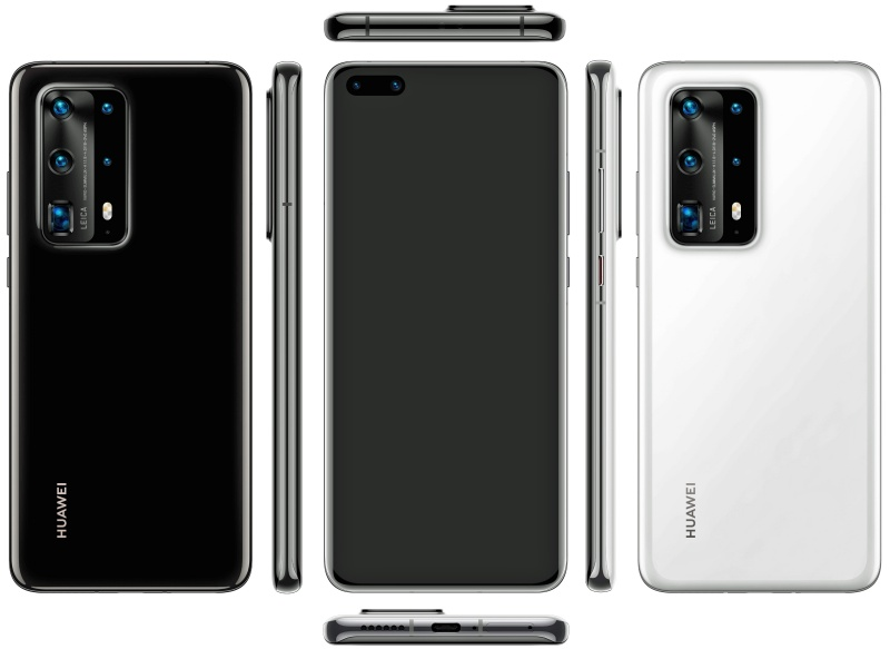 Purported render of the Huawei P40 Pro. <br>Image source: @evleaks