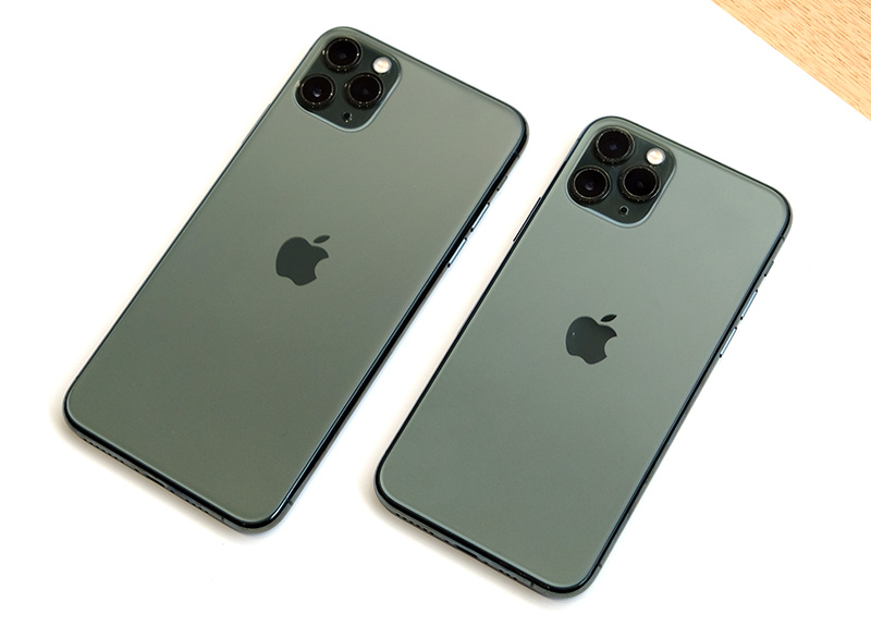 The Apple iPhone 11 Pro Max and iPhone 11 Pro.