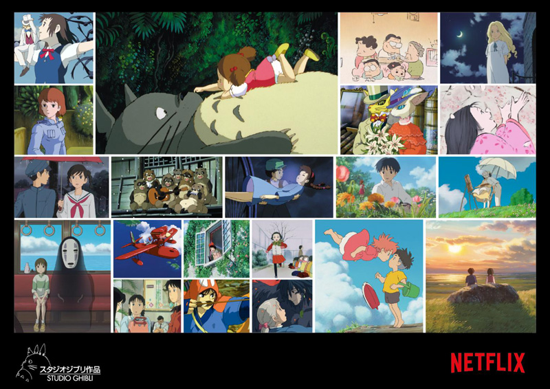 A collage of the Ghibli movies coming to Netflix. | Image: Netflix