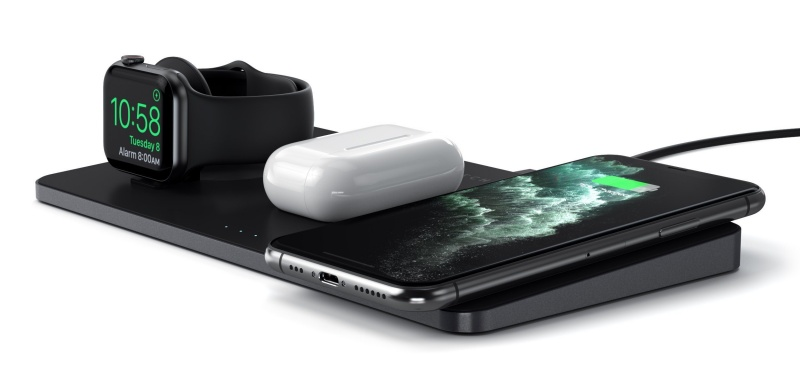 The Satechi Trio Wireless Charging Pad.
