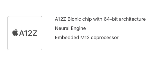 Its name suggests it's based heavily on the A12X Bionic found in the last generation iPad Pro.