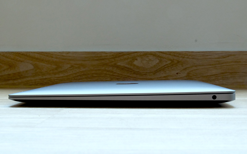 The latest MacBook Air retains its iconic wedge-shape profile.
