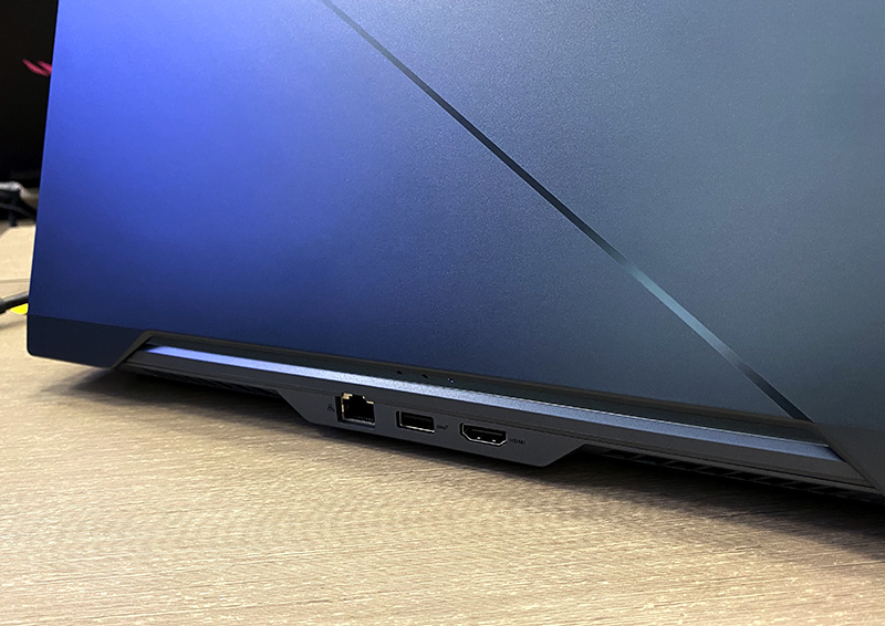 As befits any serious gaming notebook, the Zephyrus Duo 15 has a Gigabit Ethernet jack. It also has an HDMI 2.0b port.