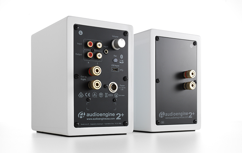 The Audioengine A2 has a wealth of connectivity options. The only thing missing is a optical input. (Image source: Audioengine)