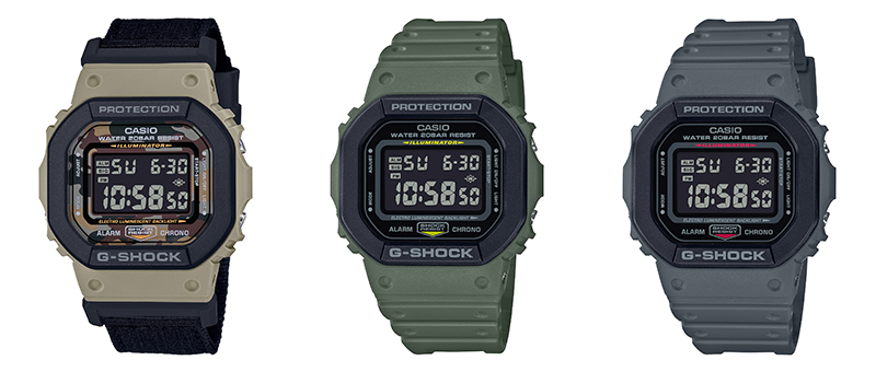 G-Shock DW-5610 Street Utility collection (Image source: Casio)