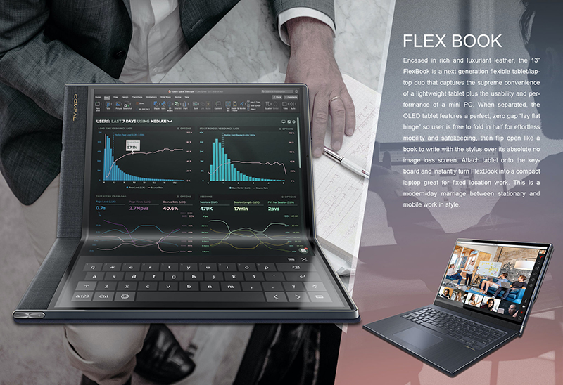 The Compal Flexbook (Image source: Compal)