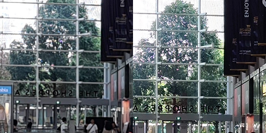 Here's a look at a 100% crop of a 12MP image (left) beside that of a 108MP picture.