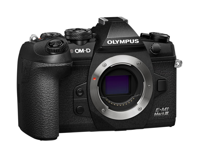 Olympus OM-D E-M1 Mark III front. Body only. Image: Olympus