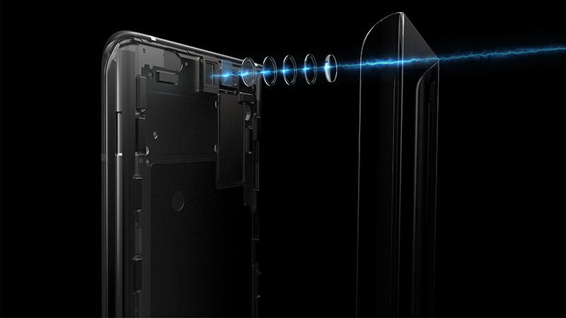 An under-screen 16MP front camera for a true, all-screen display.