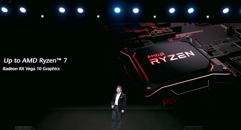 MateBook D is available with AMD Ryzen processors and uses its integrated 'discrete' class graphics.