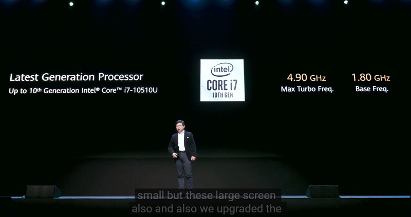 Intel 10th Gen Core processors will soon be available on the updated MateBook X Pro - but it's the Comet Lake class.