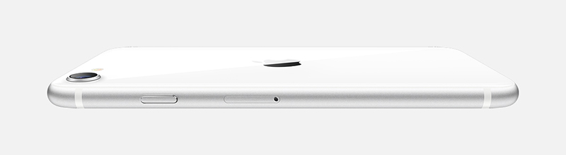 The new iPhone SE in white. (Image source: Apple)