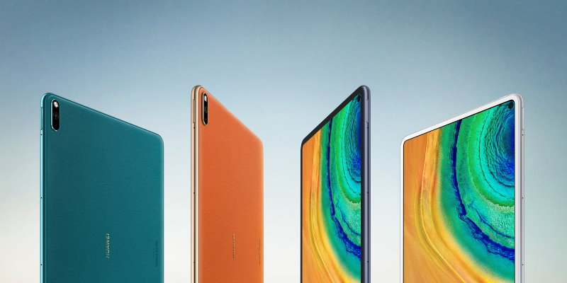 The MatePad Pro 5G variant has a leather vegan rear finish, while the standard MatePad Pro comes with the usual glass back. (Image: Huawei)