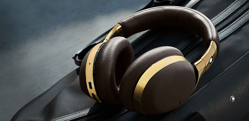 The Montblanc MB 01 headphones in brown. (Image source: Montblanc)