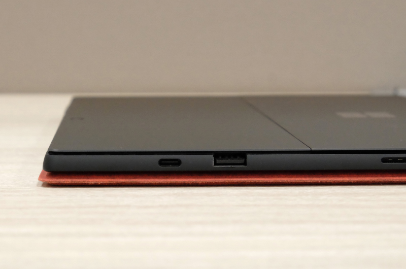 Thickness is unchanged and remains the same at 8.5mm. The Surface Pro Type Cover adds about 5mm to bring it to about 13.5mm.