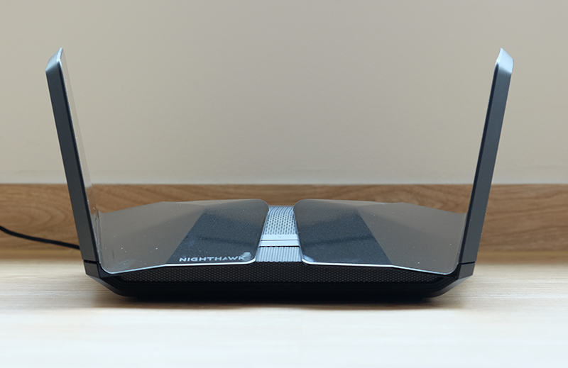 The Netgear Nighthawk RAX200 is arguably the best looking of the trio.