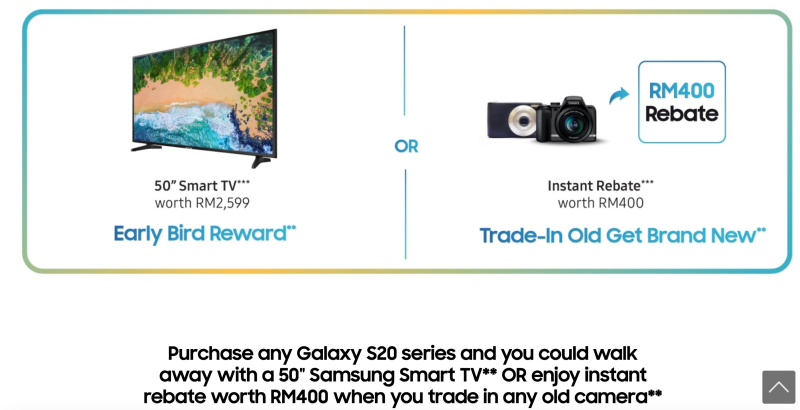 Tier 1 promotion for the launch of Galaxy S20 in Malaysia. <br>Image source: Samsung Malaysia
