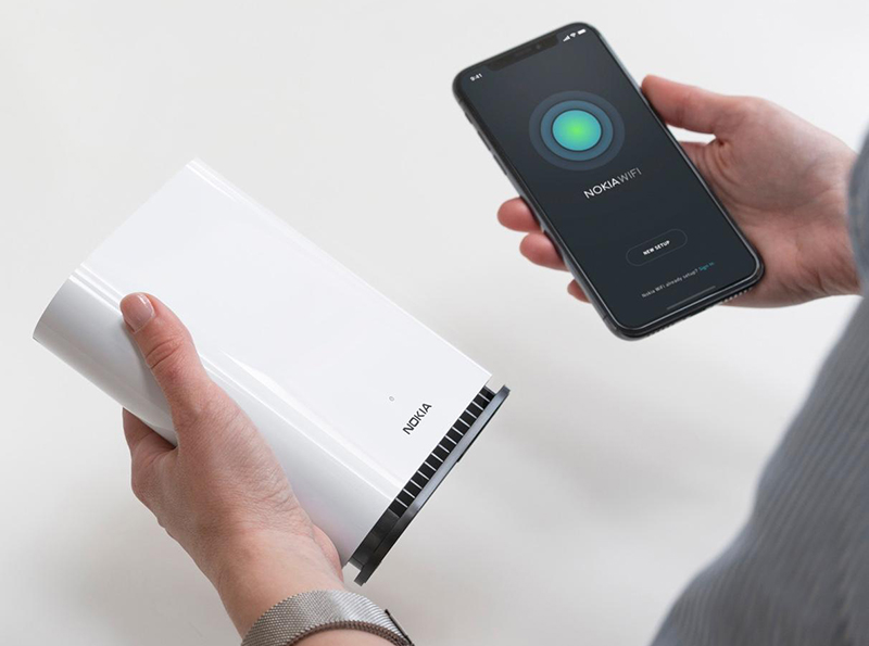 The Beacon 1 can be easily set up using the Nokia WiFi app. (Image source: StarHub)