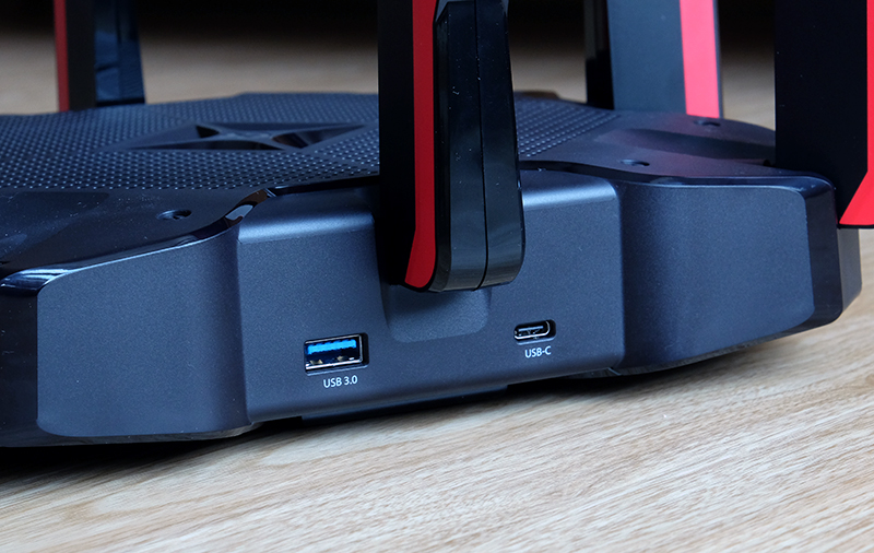 The Archer AX11000 is one of the few routers with a USB-C port.