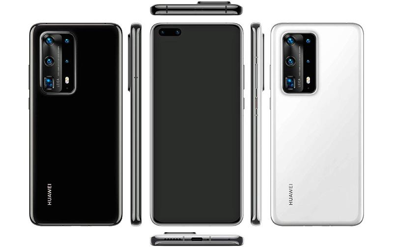 Huawei P40 Pro Plus renders.