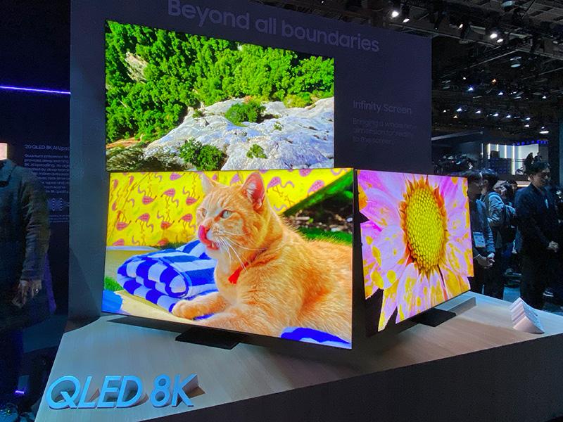 Samsung's 2020 QLED 8K TVs.
