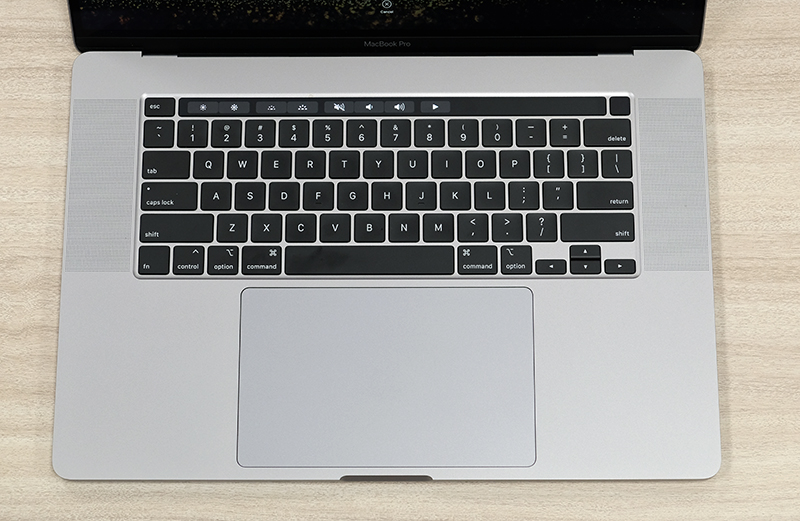 The 16-inch MacBook Pro uses a more traditional scissor-switch keyboard.