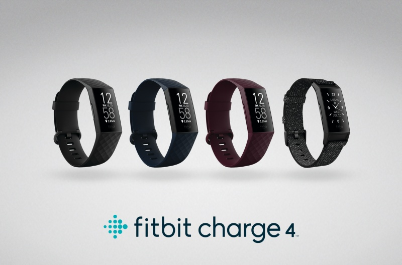 The Fitbit Charge 4.