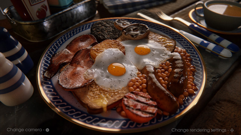 Is this real life? Creations in dreams can be as simple or complex as you want them to be. This breakfast plate was made entirely in-game - look at how incredible that is! | Image: Sony Interactive Entertainment