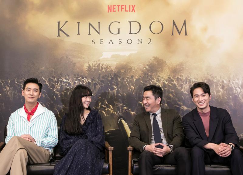 From left to right: Ju Ji-hoon, Bae Doona, Ryu Seung-ryong and Kim Sung-kyu.   Image: Netflix